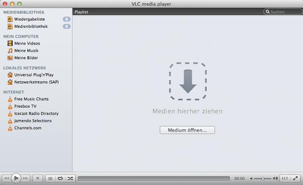 Das marginal veränderte Interface von VLC 2.0.2 (Screenshot: Golem.de)