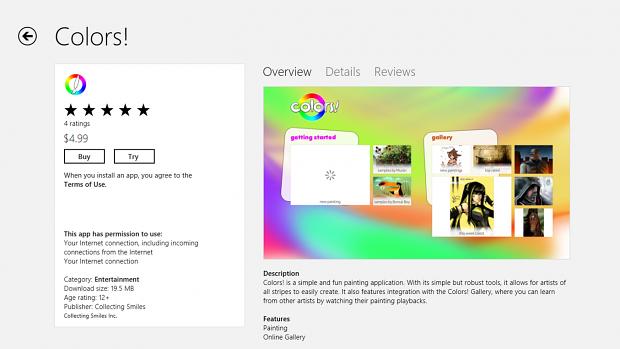 Kauf oder Testversion? Eine App im Windows Store (Bild: Microsoft)