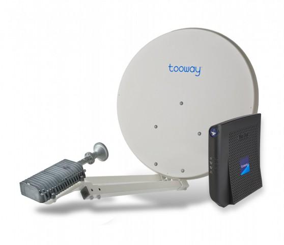Die nötige Hardware für die Tooway-Nutzung (Bild: Eutelsat)
