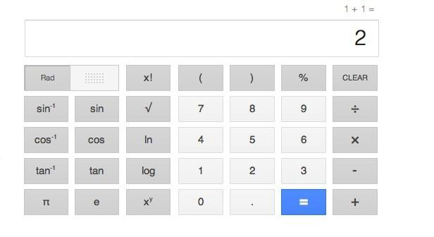 Google Taschenrechner (Bild: Google)