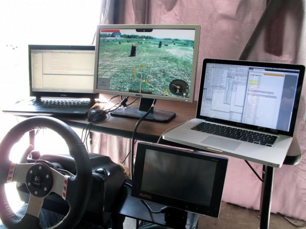 Testaufbau: Wie reagiert ein Fahrer auf das Assistenzsystem? (Foto: Sterling Anderson)