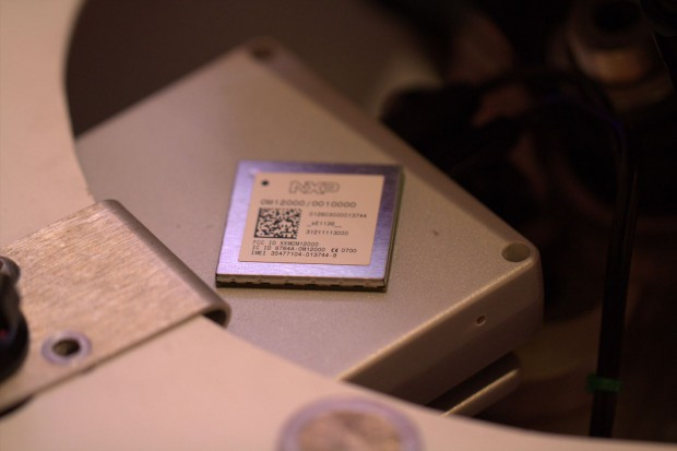Atop-Chip auf der OBU eines Elektromotorrades (Foto: Werner Pluta/Golem.de)