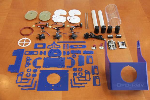 Geliefert wird Open ROV als Bausatz. (Foto: OpenROV)