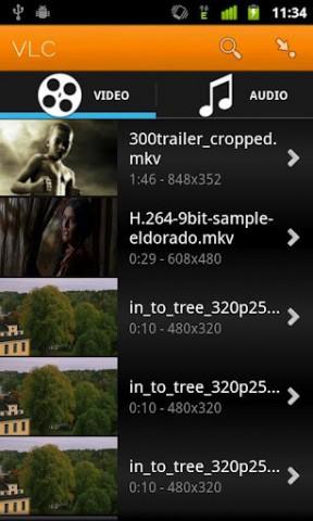 VLC on Android - bisher nur optimiert für ARMv7 mit Neon (Bild: Videolan/Google Play)