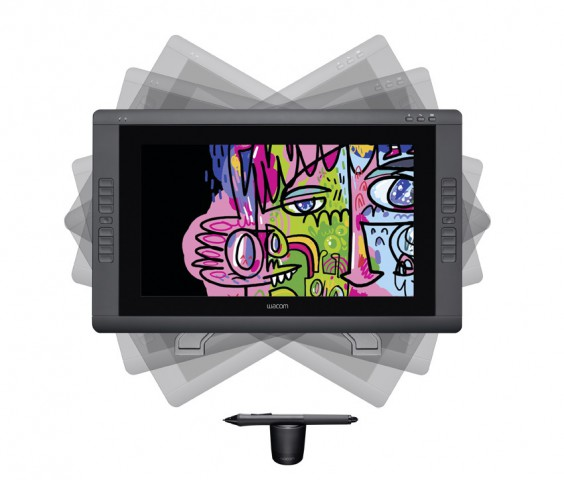 Cintiq 22HD - 22-Zoll-Display-Zeichentablet mit Stift, aber ohne Multitouch (Bild: Wacom)
