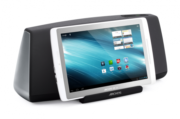 101 XS im Speakerdock (Quelle: Archos)