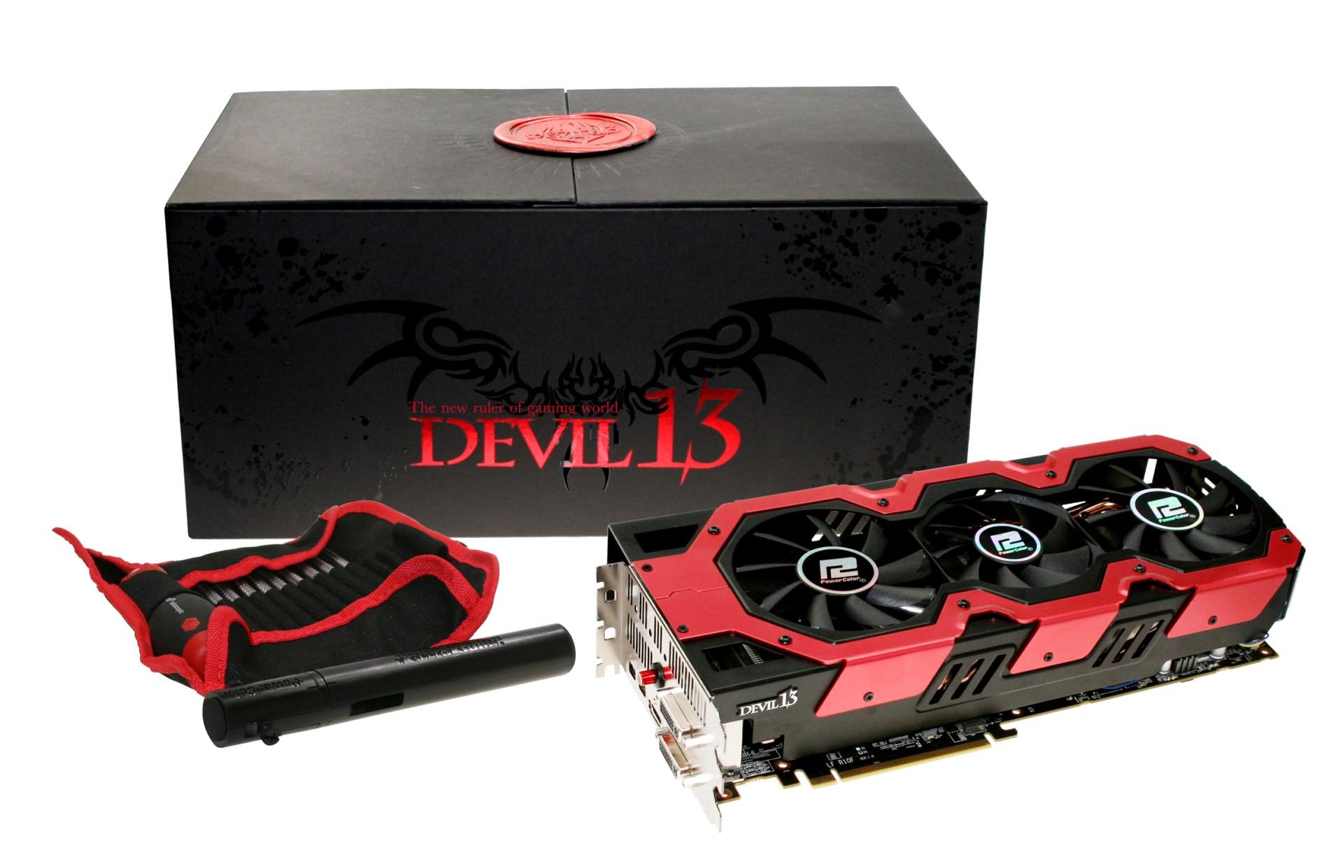 Powercolor Devil 13 HD7990: Grafikkarte mit zwei Tahiti-XT-GPUs bald erhältlich - Nett verpackt: Powercolor Devil 13 HD7990 (Bild: Hersteller)