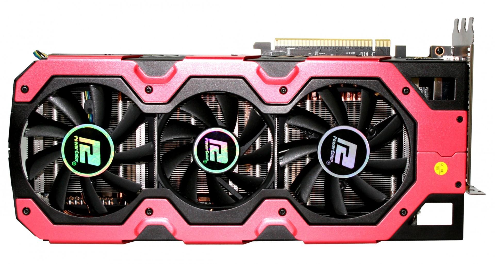 Powercolor Devil 13 HD7990: Grafikkarte mit zwei Tahiti-XT-GPUs bald erhältlich - Powercolor Devil 13 HD7990 - von oben (Bild: Hersteller)
