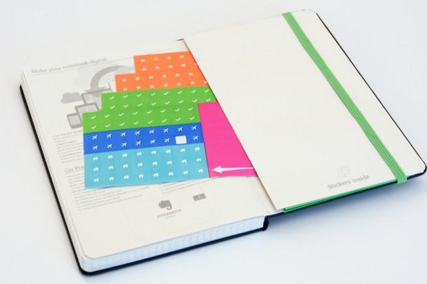 Aufkleber und Evernote Smart Notebook (Bild: Evernote)