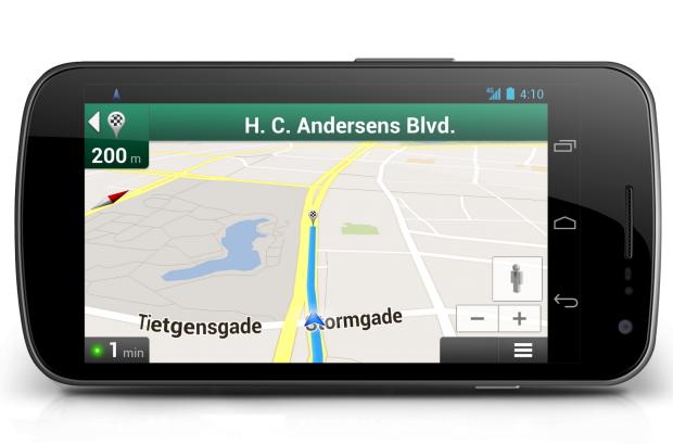 Google Maps für Android mit Fahrradnavigation in Kopenhagen (Bild: Google)
