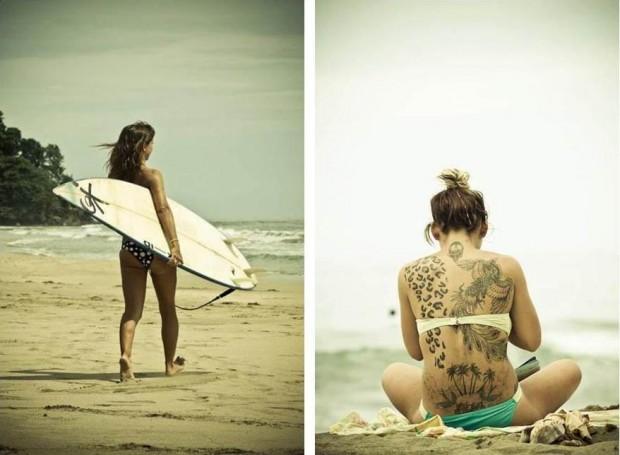 Die beiden Bilder der Surferin, die  Guy Prives Golem.de freundlicherweise zur Verfügung stellte. (Bild: Guy Prives)