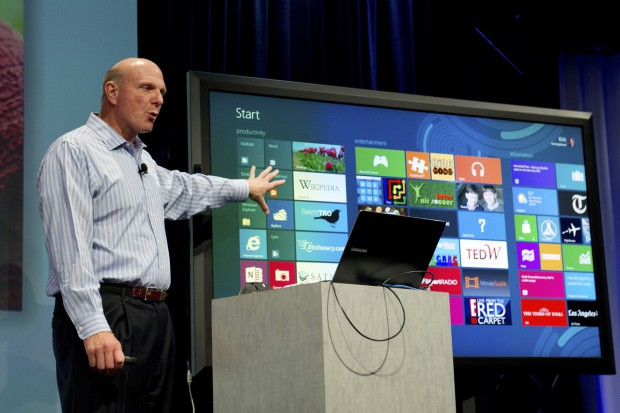 Microsoft-Chef Steve Ballmer präsentiert Windows 8