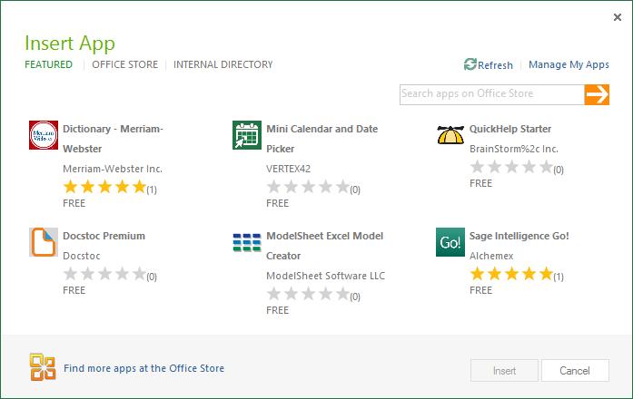 Microsoft Office 2013: Appstore für Office - Apps im Office Store