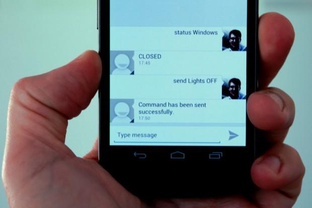 OpenHAB und die Android-App HABdroid - per XMPP-Chat lässt sich der Status abrufen und verändern. (Bild: Kai Kreuzer/OpenHAB)