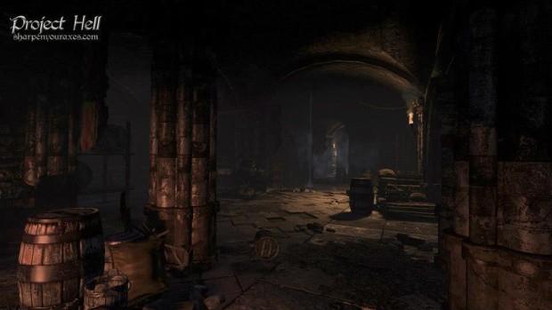 Sehr früher Screenshot von Project Hell