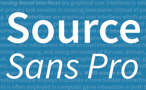 Adobes Open-Source-Font Source Sans Pro