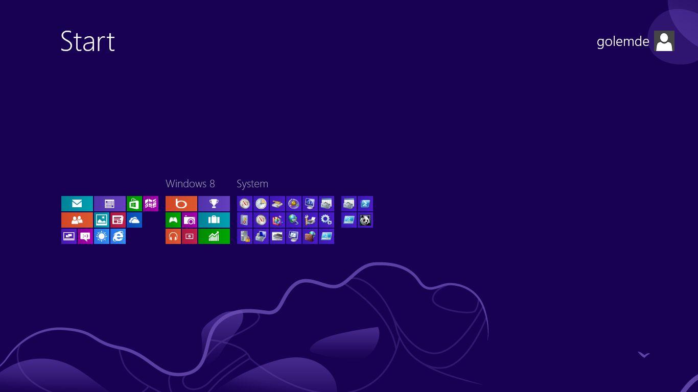 Windows 8 im Test: Microsoft kachelt los und eckt an - Der Startbildschirm von Windows 8 im Semantic Zoom