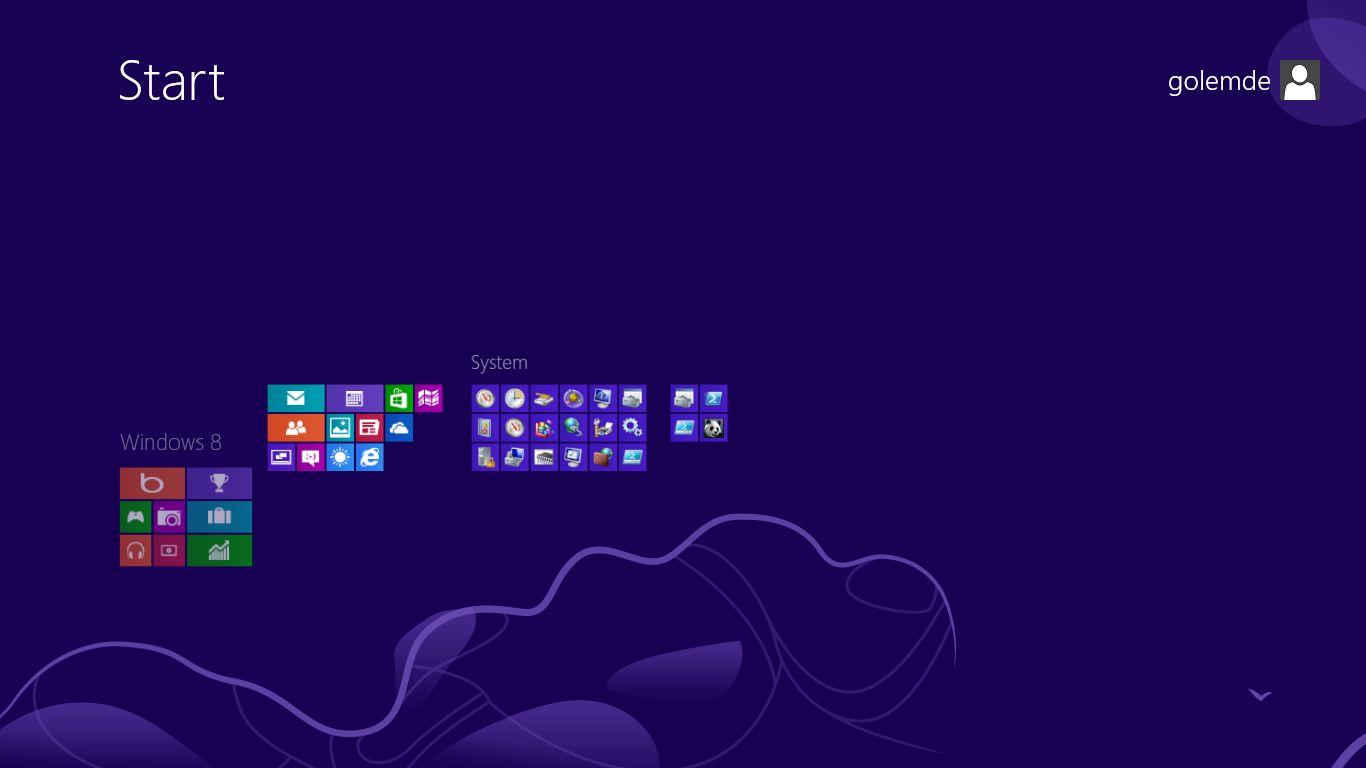 Windows 8 im Test: Microsoft kachelt los und eckt an - Die Gruppen lassen sich im Semantic Zoom auch verschieben.