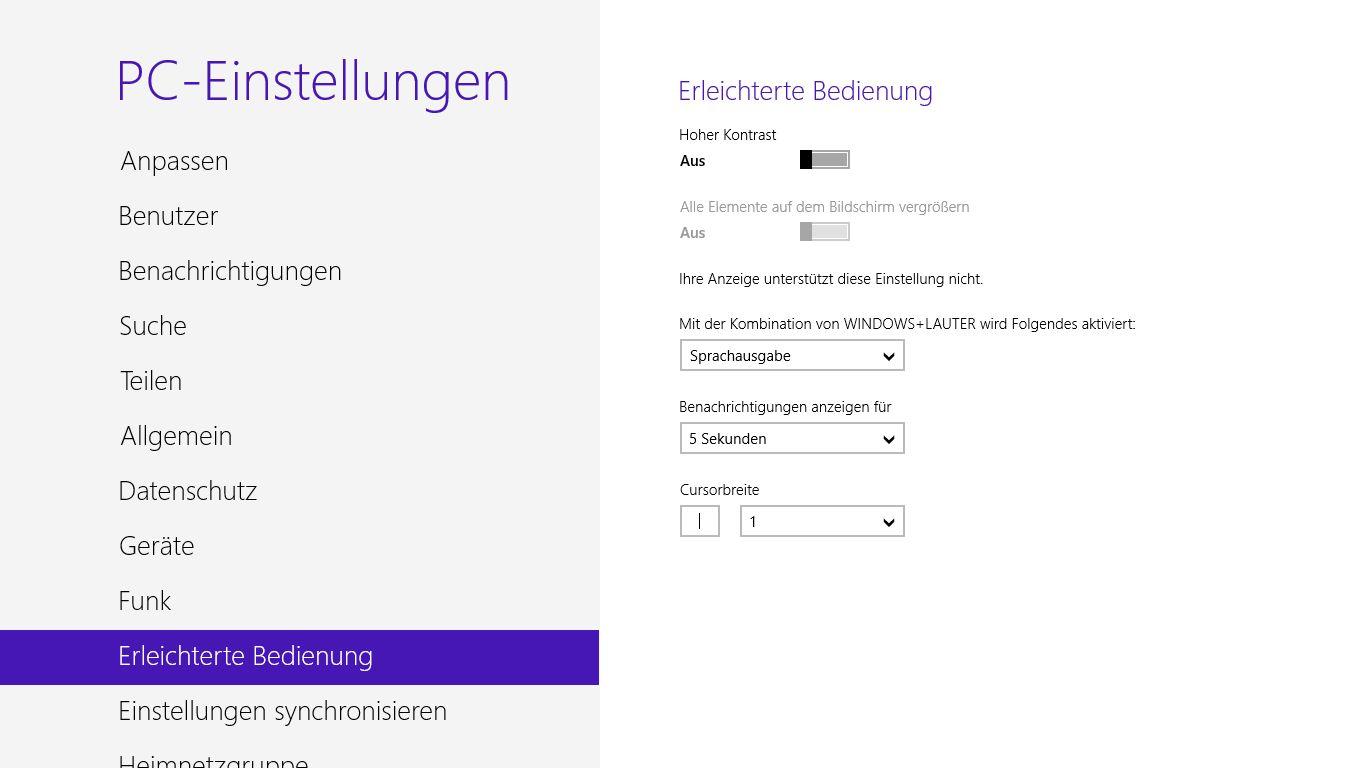 Windows 8 im Test: Microsoft kachelt los und eckt an - PC-Einstellungen unter Metro