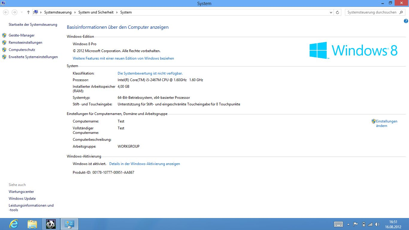 Windows 8 im Test: Microsoft kachelt los und eckt an - Systeminformationen