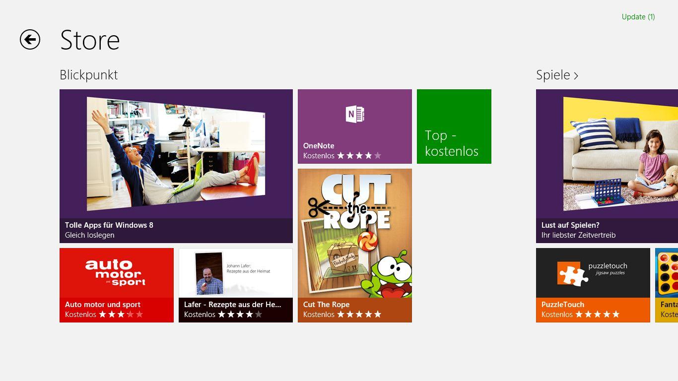 Windows 8 im Test: Microsoft kachelt los und eckt an - Im Windows Store ...