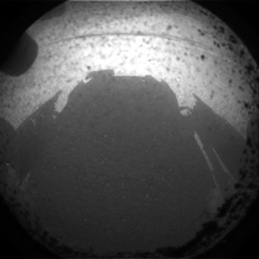 Touchdown: Curiosity ist auf dem Mars gelandet - Foto von Curiosity (Foto: Nasa)