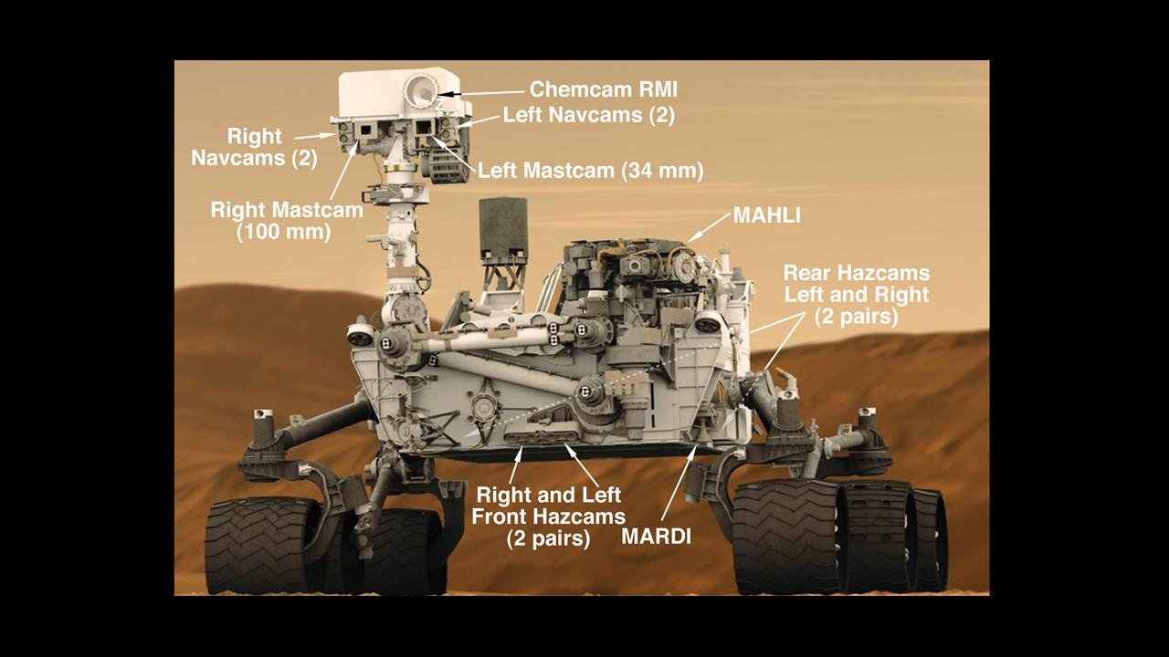 Touchdown: Curiosity ist auf dem Mars gelandet - Der Rover Curiosity (Foto: Nasa)
