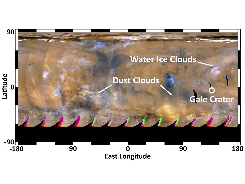 Touchdown: Curiosity ist auf dem Mars gelandet - Das Marswetter wenige Tage vor der Landung (Foto: Nasa)