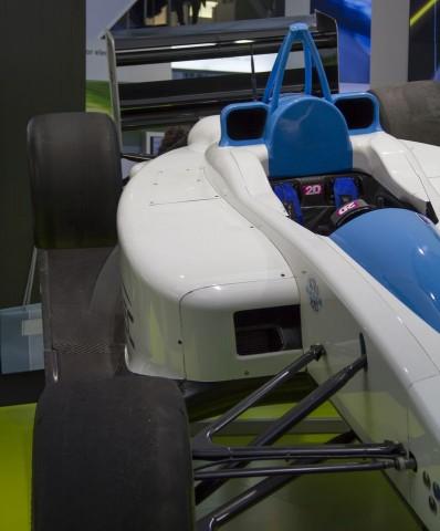 Der Elektrorennwagen Formulec EH01 (auf der Hannover Messe 2011) soll auf Wunsch allen Formel-E-Teams zur Verfügung stehen. (Foto: Werner Pluta/Golem.de)