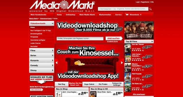 Media-Markt-Videodownloadshop - streamt auch bald mit DivX und nicht mehr nur mit Flash. (Screenshot: Golem.de)