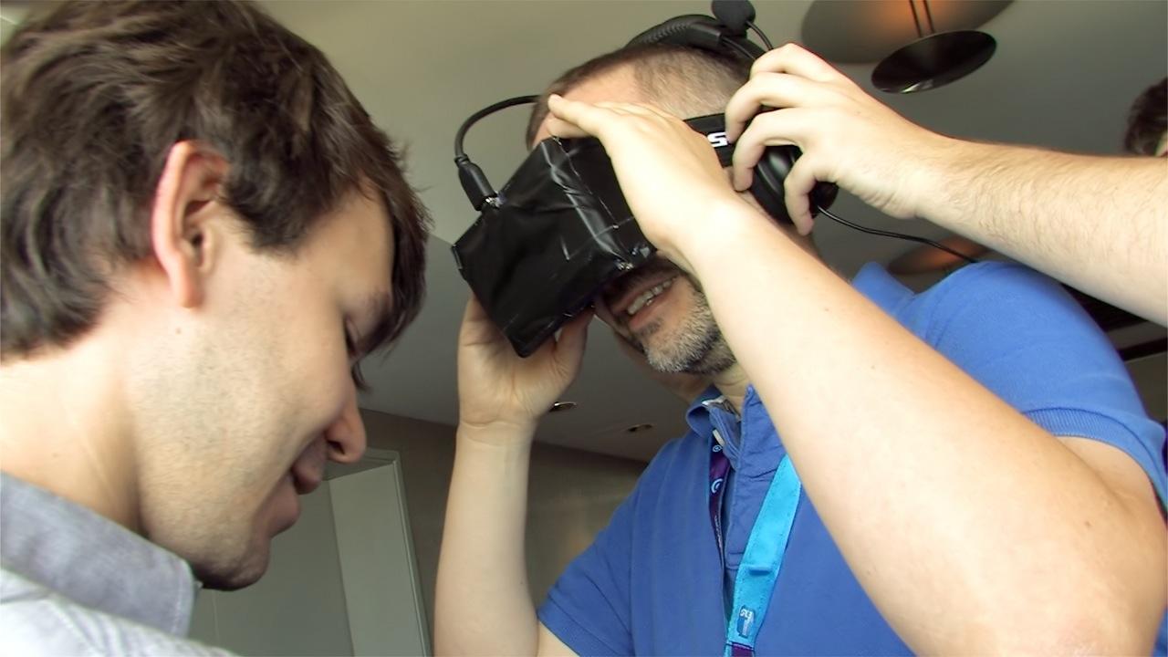 Oculus Rift ausprobiert: Das Holodeck am Rhein - Anprobe des Developer-Prototyps der Oculus Rift (Foto: dp)