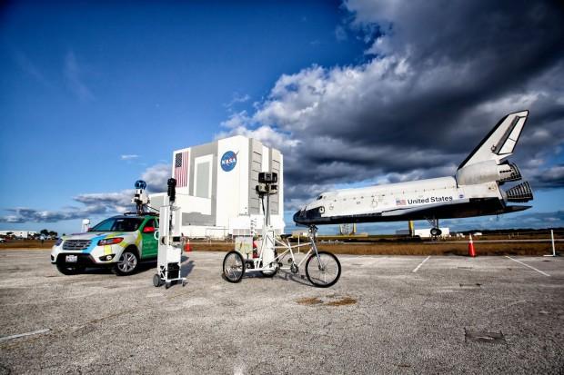 Gogole hat mit seinen Fahrzeugen das Kennedy Space Center für Street View fotografiert. (Bild: Google)