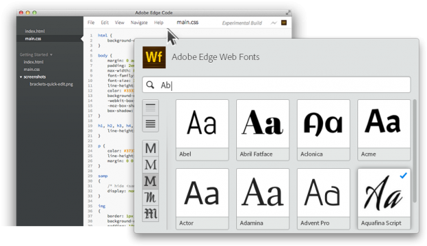 Edge Webfonts