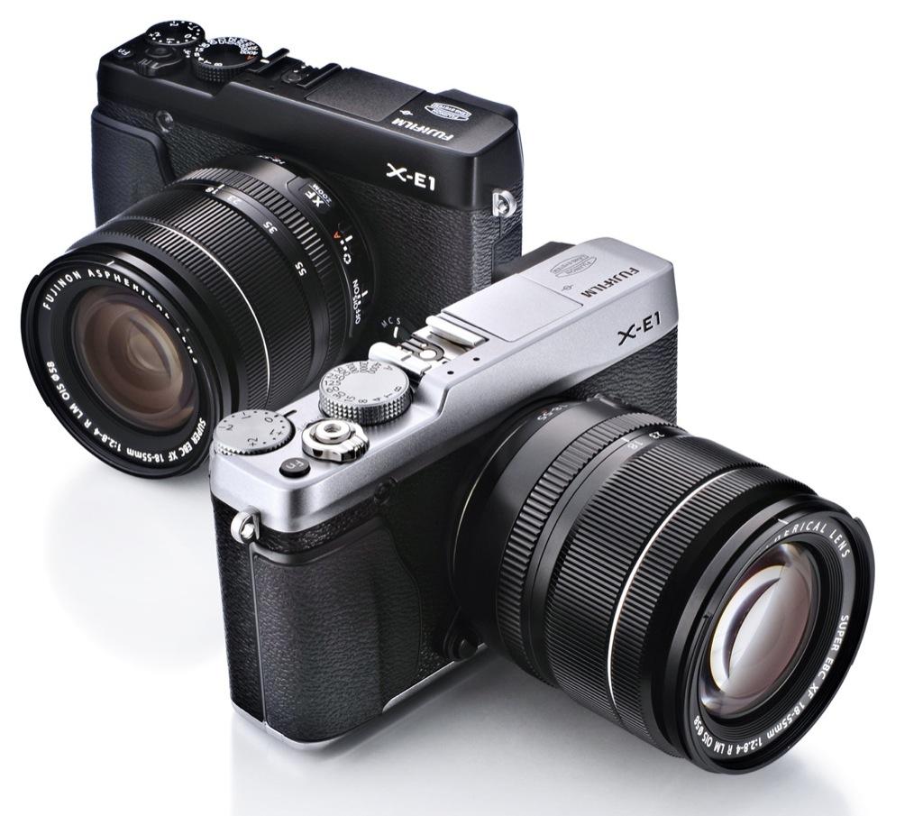 Fujifilm-Systemkamera: X-E1 für 900 Euro mit OLED-Sucher - Fujifilm X-E1 (Bild: Fujifilm)