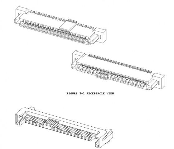 Aus einem Seagate-Dokument stammt dieser SFF-8639-Anschluss für Serverbedürfnisse.