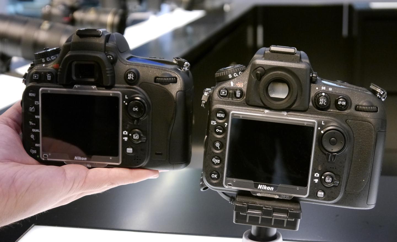 Vollformatkamera: Nikon D600 lässt sich mit Tablets und Smartphones steuern - Die Nikon D600 (l.) im Vergleich zur D800 (Bild: Petra Vogt)
