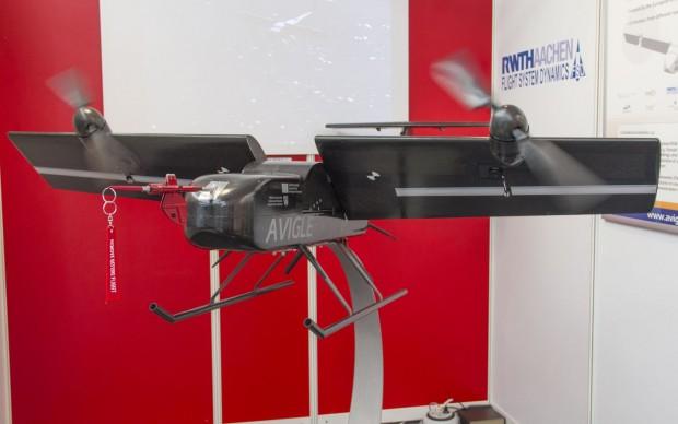 Die Drohne Avigle ist für zivile Rettungseinsätze gedacht. (Foto: Werner Pluta/Golem.de)