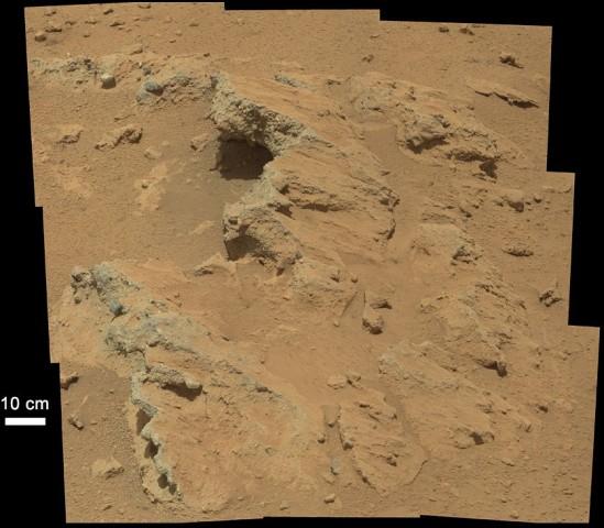 Auf der Erde kein spektakulärer Anblick, auf dem Mars schon: Flusskiesel am Punkt Hottah... (Foto: Nasa/JPL-Caltech/MSSS)