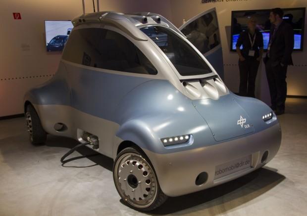 Romo ist ein robotisches Elektroauto. (Foto: Werner Pluta/Golem.de)