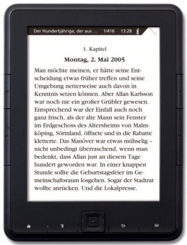 E-Book-Reader 4: Einsteiger-E-Book-Reader für 60 Euro von Hugendubel und Weltbild: Ähnlichkeit mit Trekstor Pyrus (Foto: Weltbild)