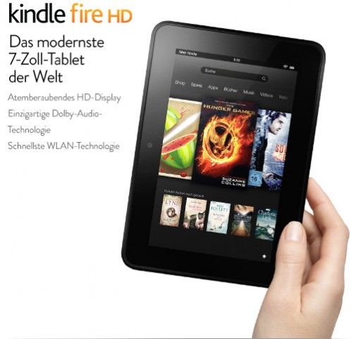 Das Kindle Fire HD mit 7-Zoll-Display