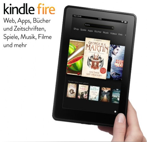 Das Kindle Fire mit 7-Zoll-Display