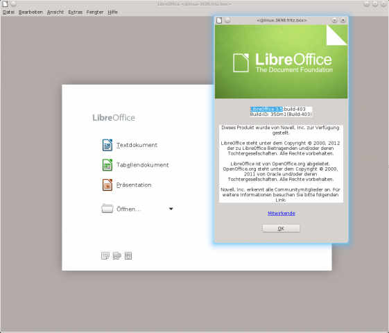...Libreoffice 3.5.4...