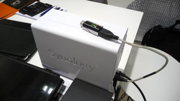 Auf der Ifa 2012: Synology-NAS mit DVBLogics PVR-Paket und PCTV-USB-Stick (Bild: ck)