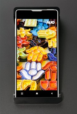 4,46 Zoll großes Display von AUO mit 1 mm breitem Rand (Bild: AUO)