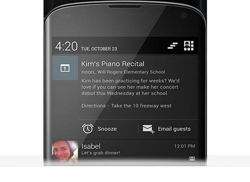 Google: Android 4.2, Musik und Filme für Deutschland - Benachrichtungen zentral zusammengefasst