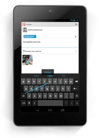 Gesture-Typing in Android 4.2 soll das Tippen schneller machen.