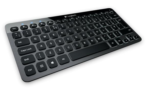 Logitech Bluetooth Illuminated Keyboard K810 mit US-Tastenlayout (Bild: Logitech)