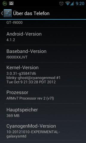 Bereits einen Tag nach der offiziellen Veröffentlichung von Android 4.1.2 kam eine experimentelle ROM heraus, ...