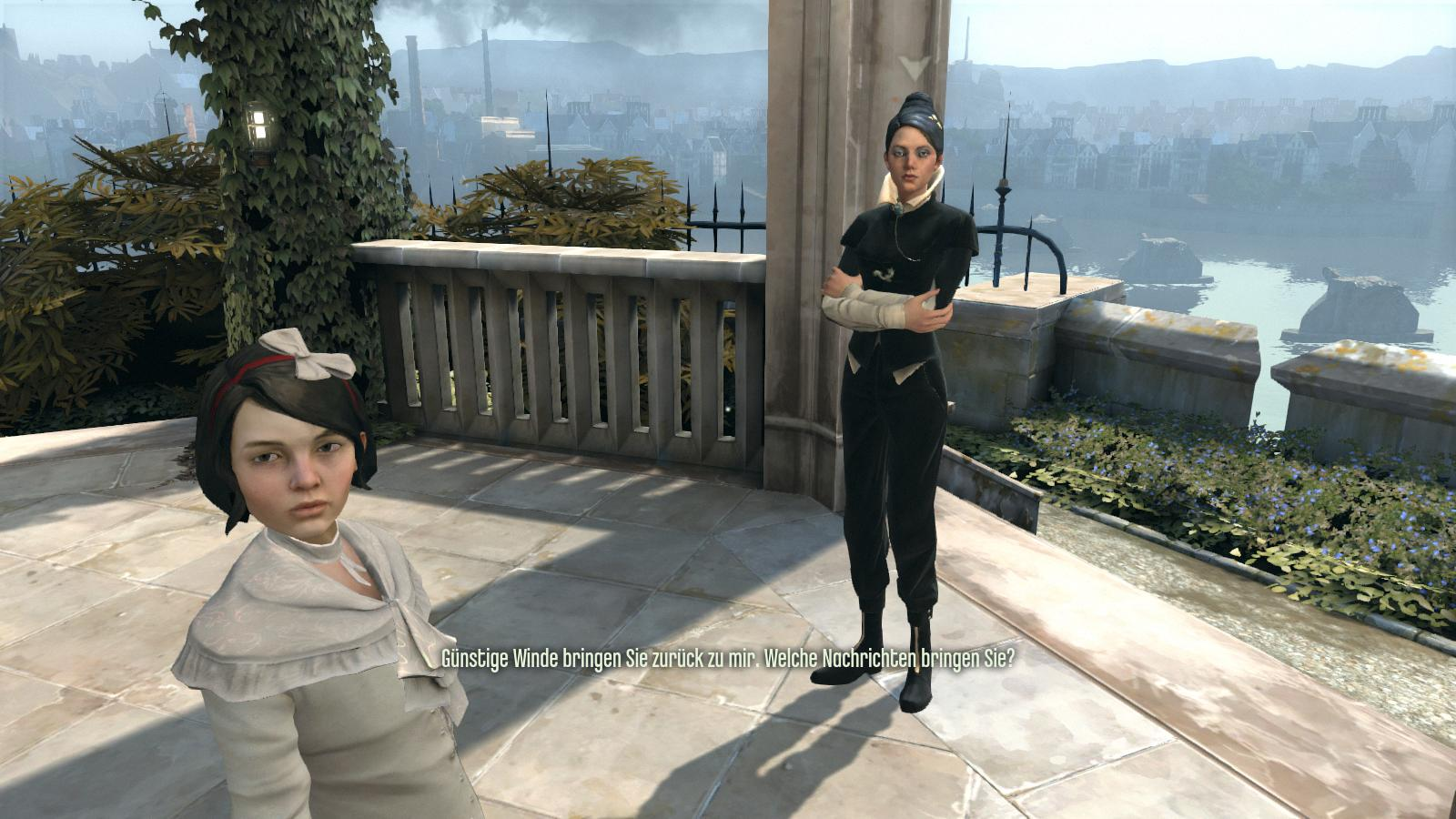 Test Dishonored: Nichts zu motzen beim Meucheln - Die Kaiserin und ihre Tochter sind ganz am Anfang noch an der Macht.